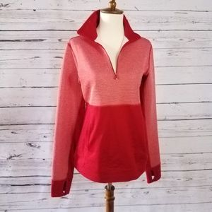 Adidas Climalite 1/4 zip Women's Red Pullover Sz S